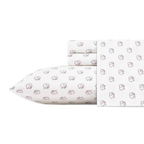 100% Cotton Elephant Print Sheet Set - Ivory Ella - image 1 of 3