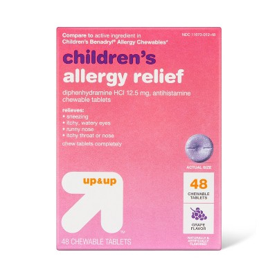 Children's Diphenhydramine Allergy Relief Chewable Tablets - Grape - up & up™