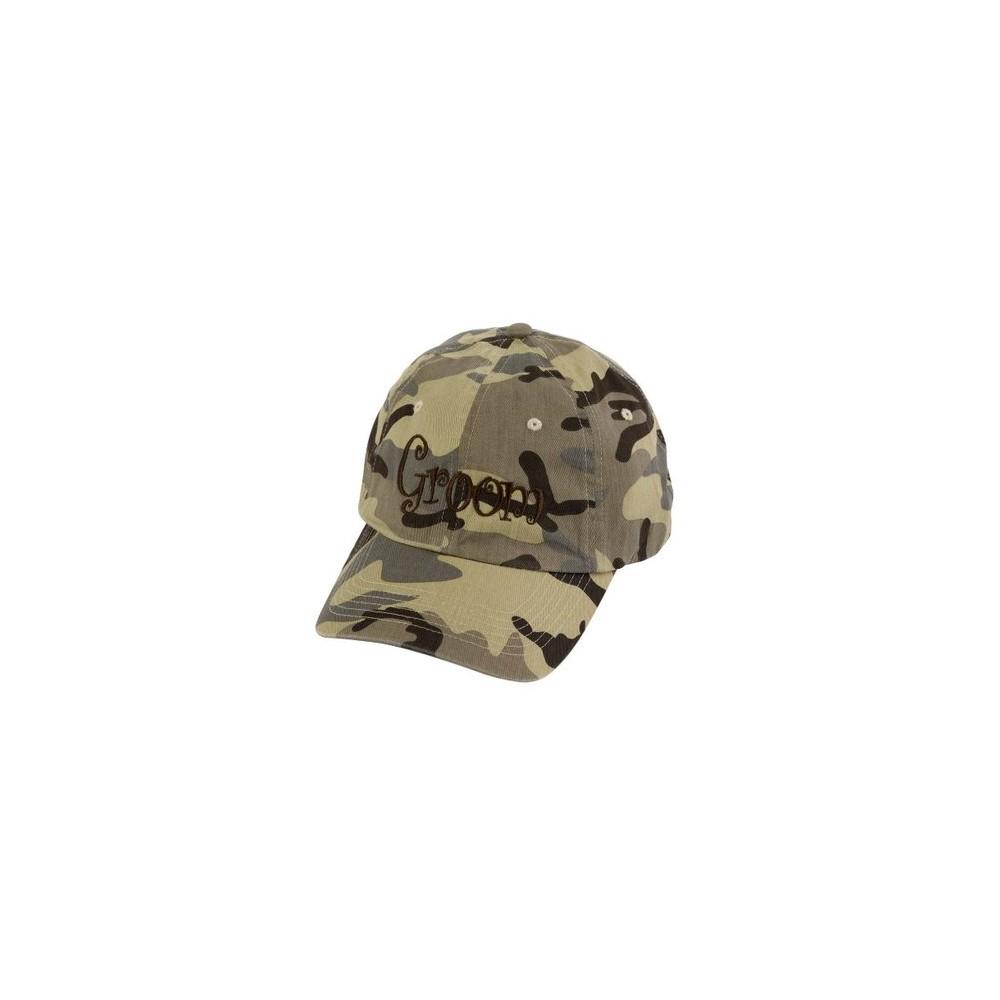 """Bride & Groom"" Desert Camouflage Cap, Brown/Green thumbnail"
