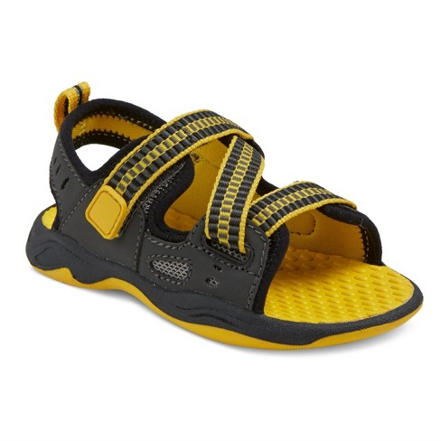 Toddler Boys' Carlos Active Footbed Sandals Cat & Jack™ - Gray/Yellow 11 - image 1 of 3