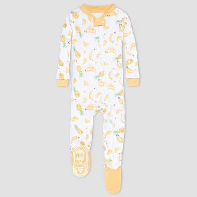 Burt's Bees Baby® Baby Girls' One Piece Fruit Footed Pajamas - Orange
