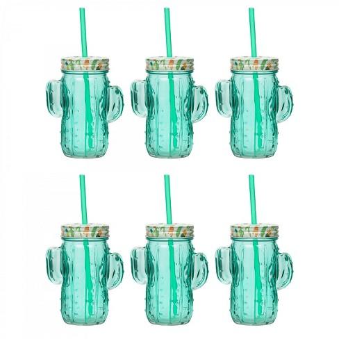 Amici Home Cactus Mason Drinking Jar, 16oz, Set of 6 - image 1 of 3