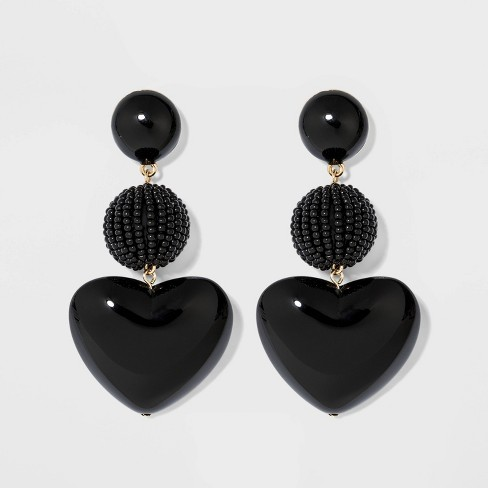 SUGARFIX by BaubleBar Mixed Media Heart Earrings - image 1 of 3