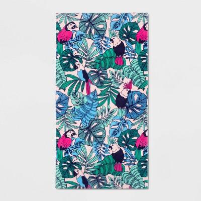 Floral Palm Printed Beach Towel - Sun Squad™