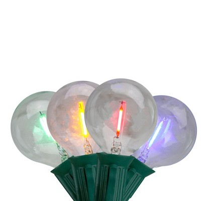 Northlight 10ct Multi Color LED G50 Globe Christmas Light Set, 10ft Green Wire