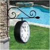 Poolmaster DualSided Hanging Outdoor Clock  Black - image 2 of 2