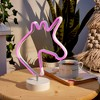 """Unicorn 12"""" LED Novelty Table Lamp Purple - West & Arrow - image 4 of 4"""