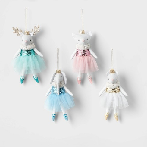 4pk Ballerina Animal Ornament Set - Wondershop™ - image 1 of 2