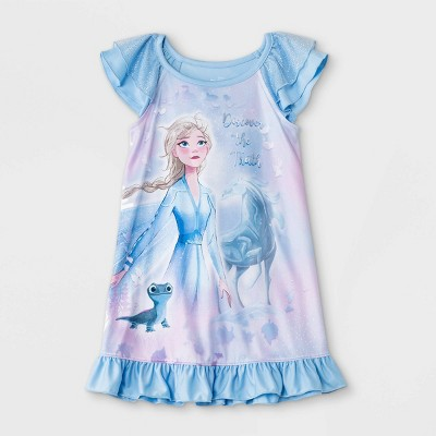 Toddler Girls' Frozen Elsa Dorm Nightgown - Blue