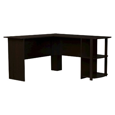 Fieldstone Wood L Shaped Computer Desk with Storage  - Room & Joy