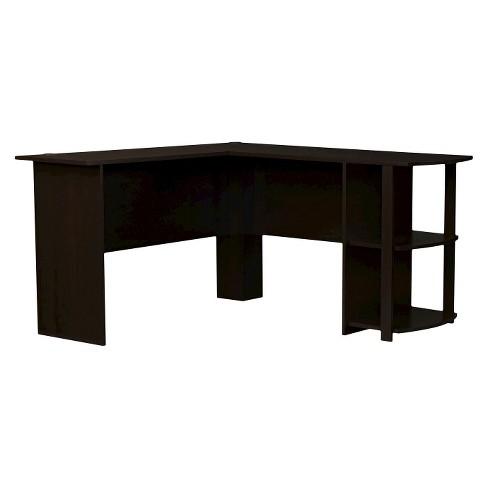 Fieldstone L-Shaped Desk with Bookshelves - Espresso - Room & Joy - image 1 of 3