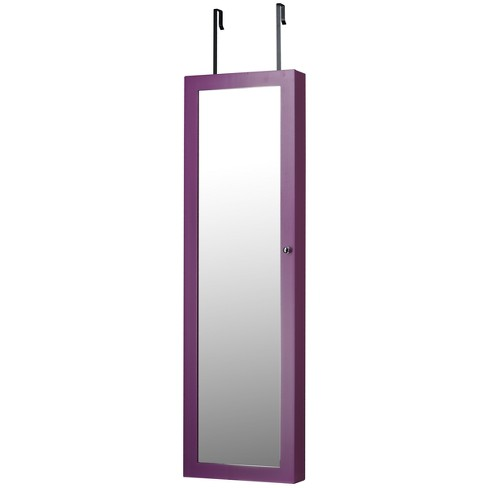 Mirrored Jewelry Armoire Purple - FirsTime - image 1 of 4