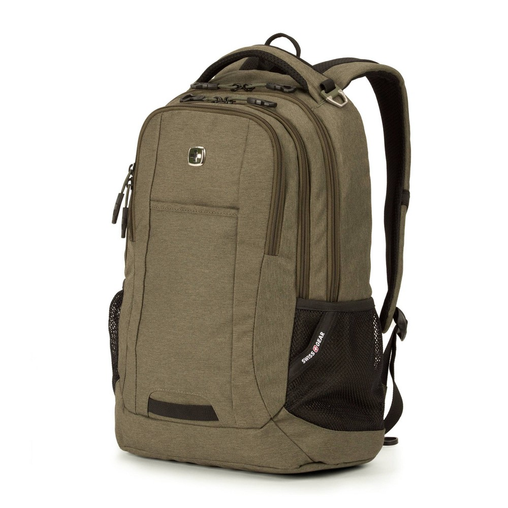 """Image of """"SWISSGEAR 18.5"""""""" Backpack - Olive, Green"""""""