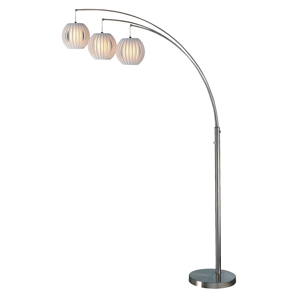 Lite Source Deion Arch Floor Lamp (Lamp Only), Medium Silver