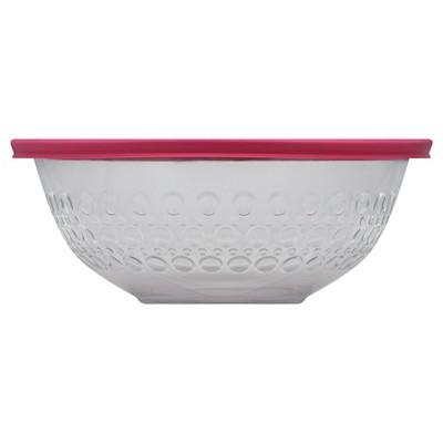 Pyrex 4 Quart Dot Textured Bowl - Red