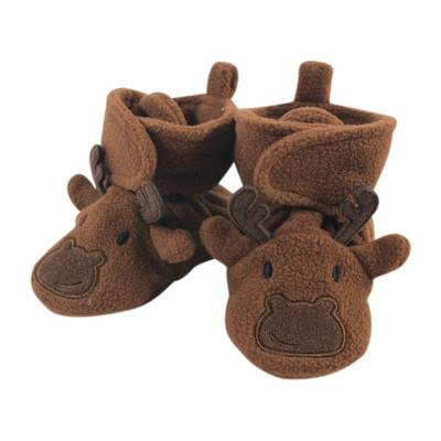 Hudson Baby Infant and Toddler Boy Cozy Fleece Booties, Moose