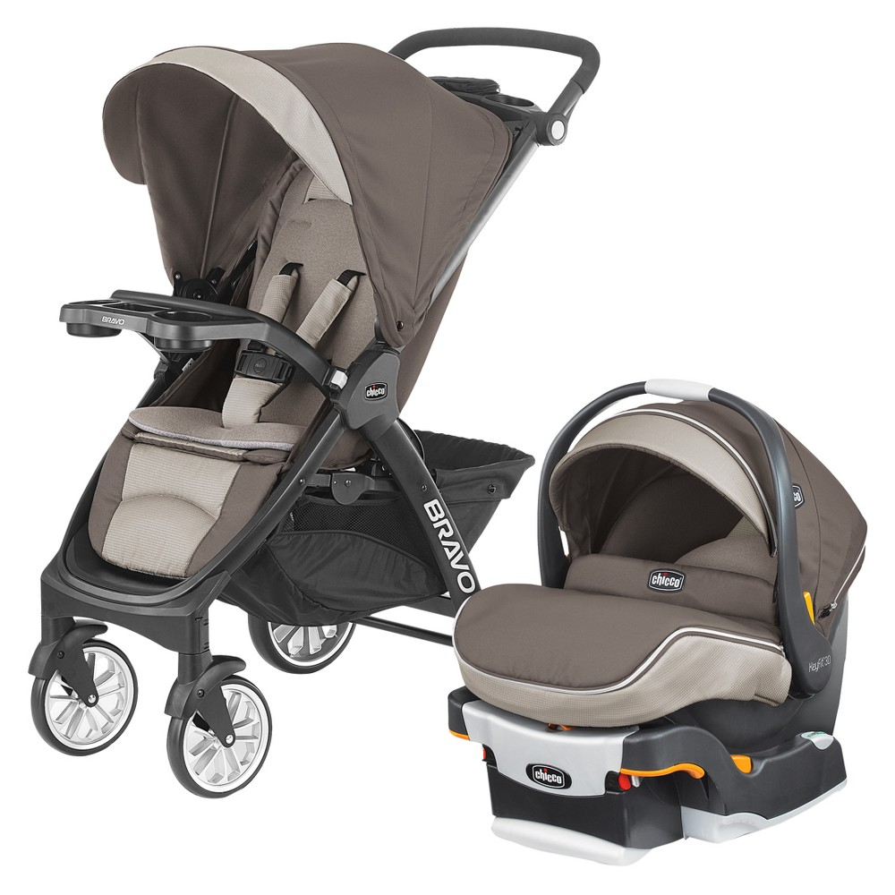 Image of Chicco Bravo LE Travel System - Latte