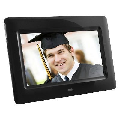 Aluratek 7  LCD Digital Photo Frame - Black (ADPF07SF)
