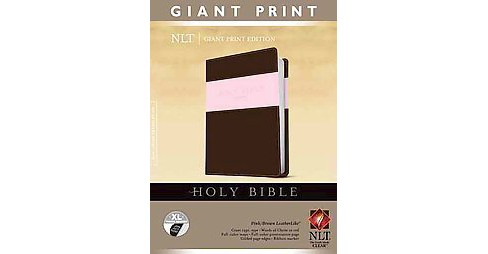 Holy Bible : New Living Translation, Pink / Brown, Leatherlike Tutone Giant Print Edition (Indexed, - image 1 of 1