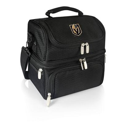 NHL Vegas Golden Knights Pranzo Dual Compartment Lunch Bag - Black