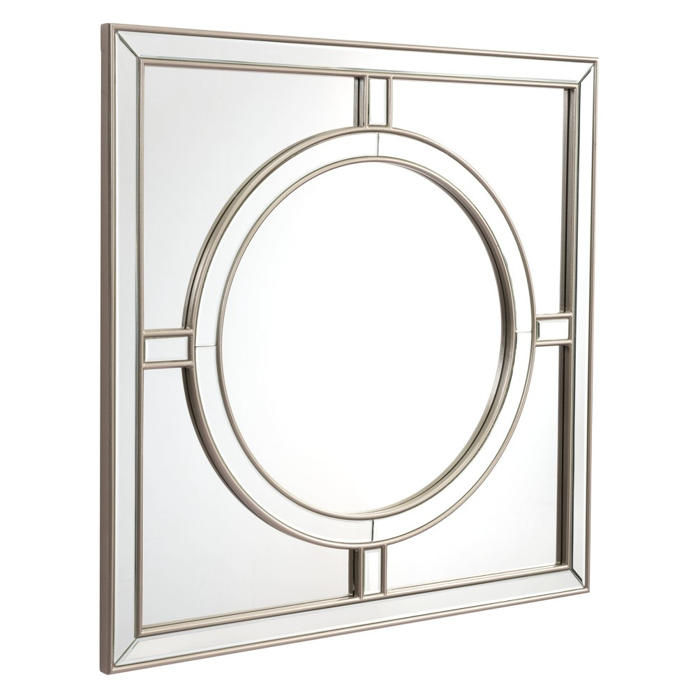 ZM Home 39 Geometric Square Mirror Silver