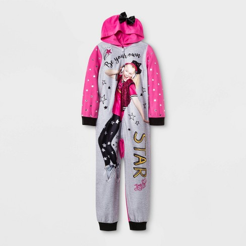 Girls' JoJo Siwa Union Suit - Pink/Gray - image 1 of 1