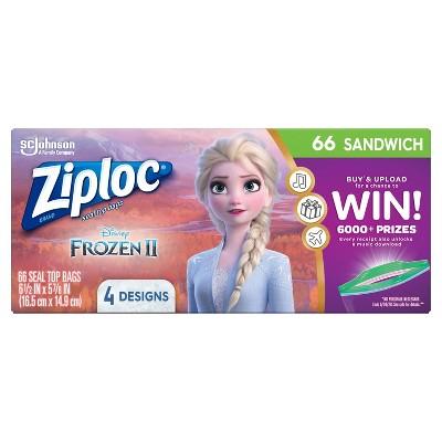 Ziploc Brand Sandwich Bags - Disney's Frozen 2 - 66ct