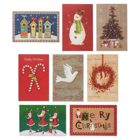 32ct American Greetings Classic Assortment Holiday Boxed Cards - 32ct American Greetings Classic Assortment Holiday... : Target