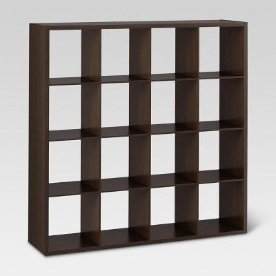 "13"" 16 Cube Organizer Shelf Espresso - Threshold™"