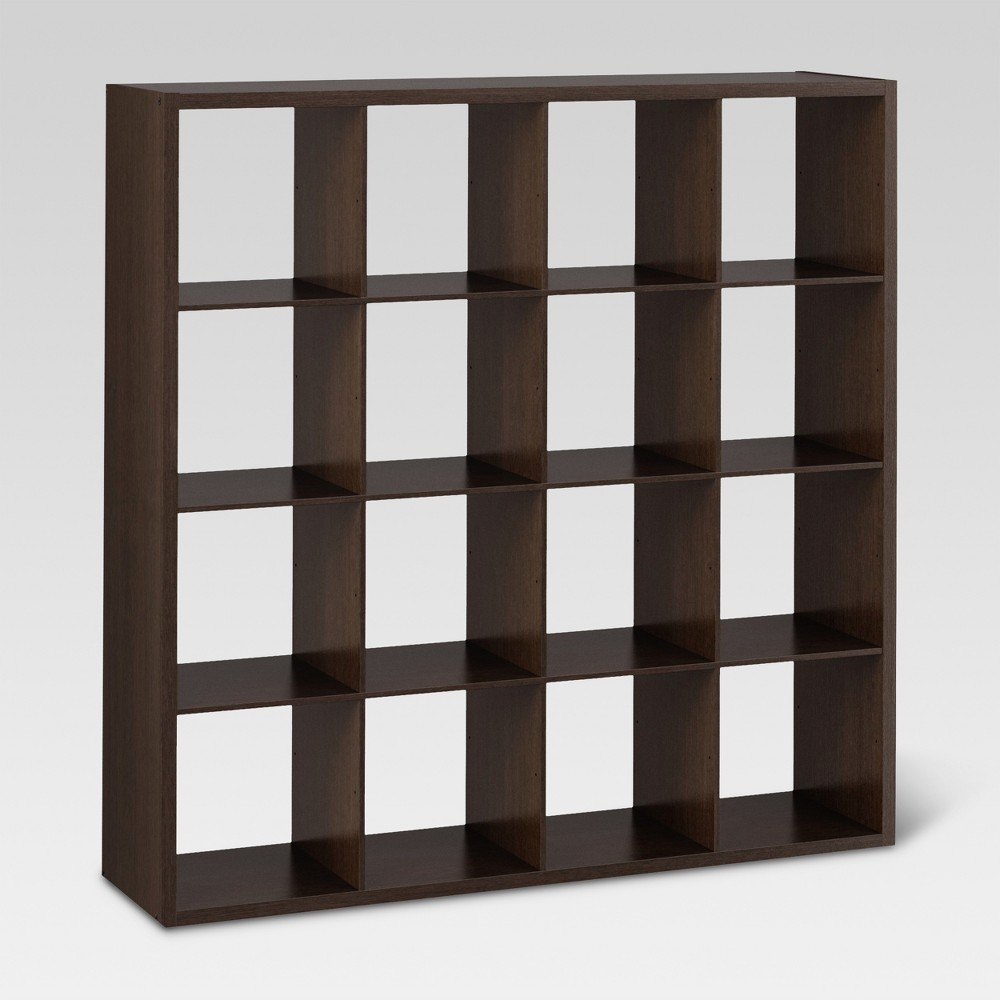 "Image of ""16-Cube Organizer Shelf Espresso 13"""" - Threshold"""