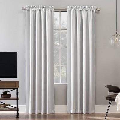 """84""""x52"""" Oslo Theater Grade Extreme Blackout Rod Pocket Curtain Panel White - Sun Zero"""