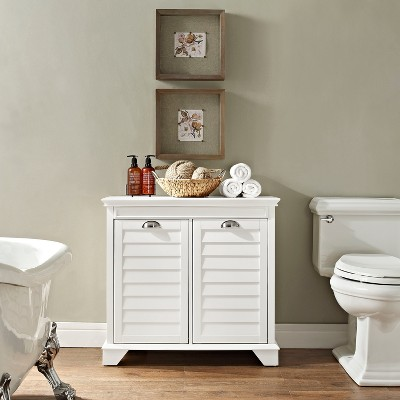 Crosley Linen Hamper in White