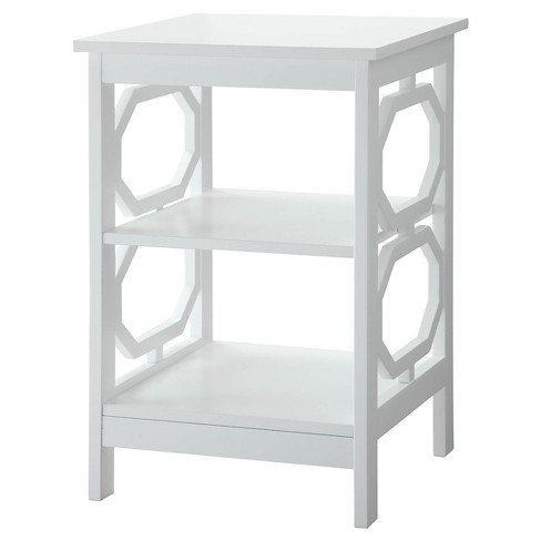 Omega End Table White - Convenience Concepts - image 1 of 4