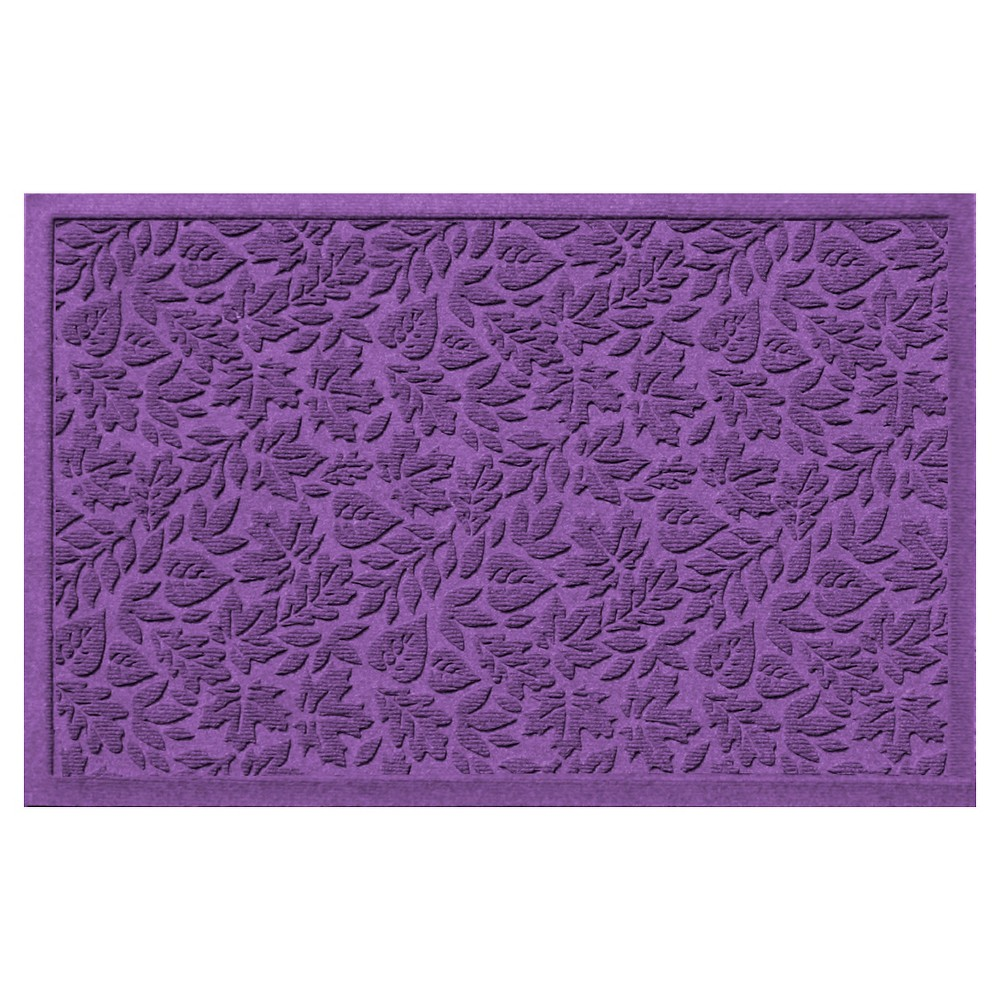 Purple Botanical Doormat - (2'X3') - Bungalow Flooring