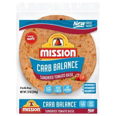 Mission Carb Balance Tomato Basil Wraps - 12oz/8ct
