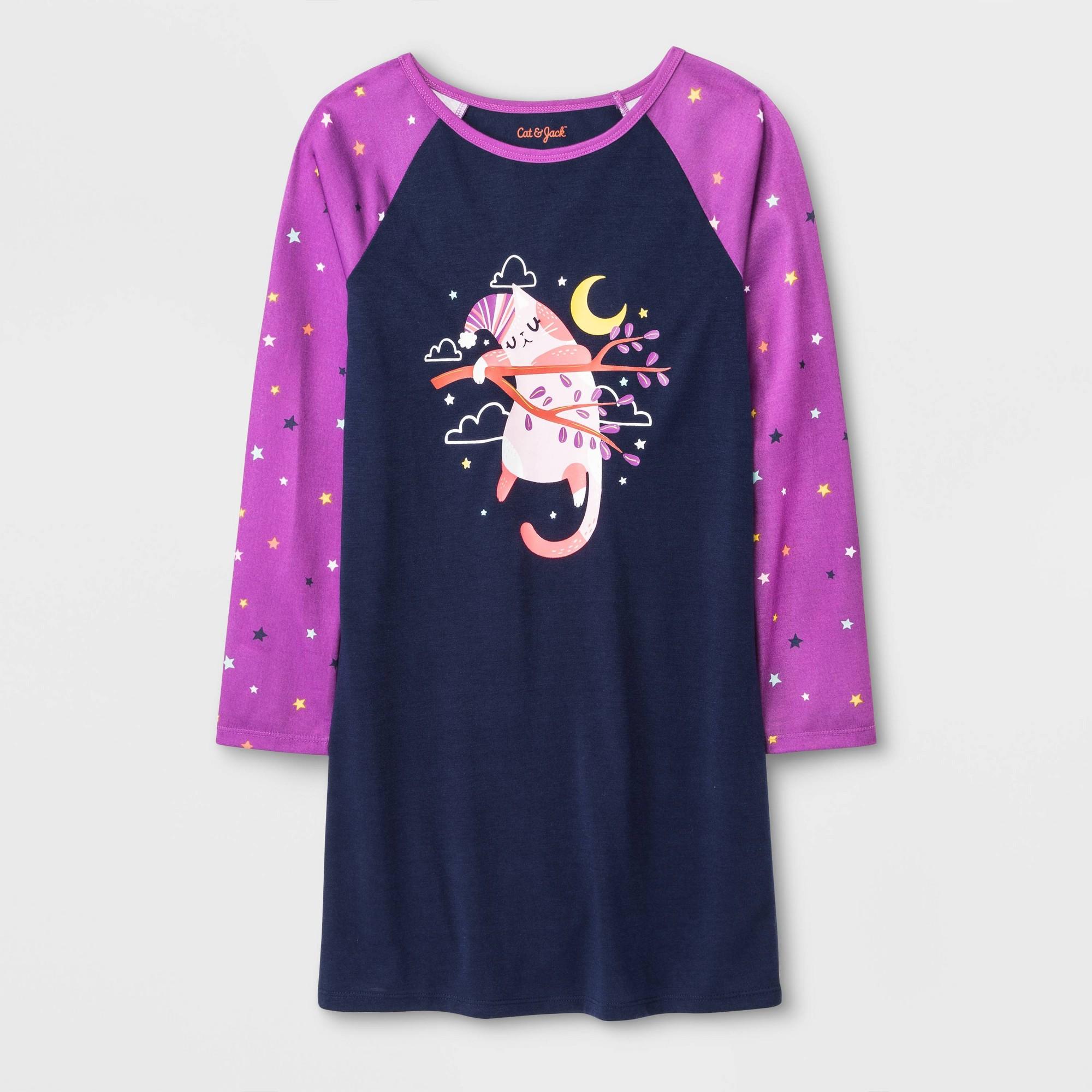 Girls' One Piece Pajamas - Cat & Jack Blue XL, Girl's