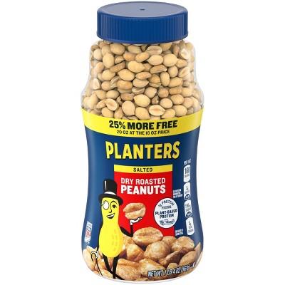 Planters Heart Healthy Dry Roasted Peanuts - 16oz