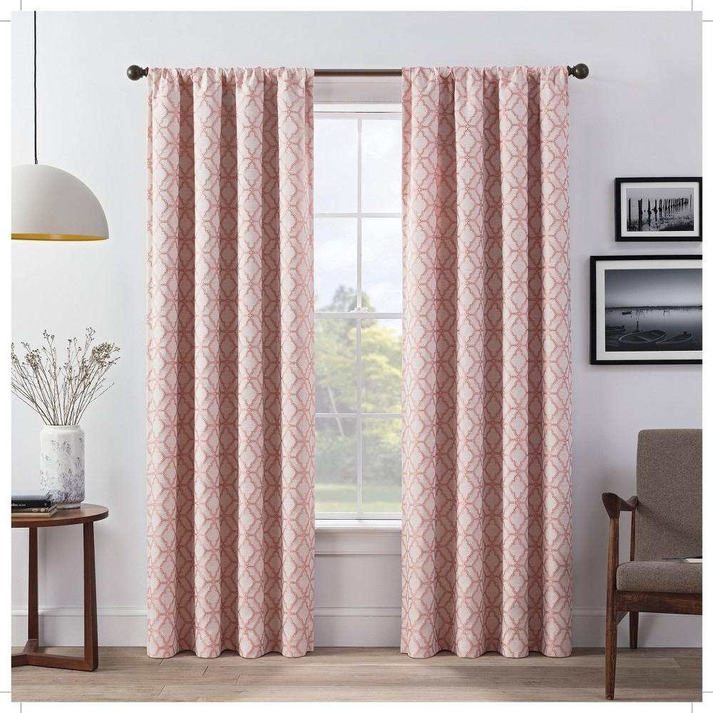 Set Of 2 95 34 X52 34 Lollie Blackout Window Curtain Panels Pink Eclipse