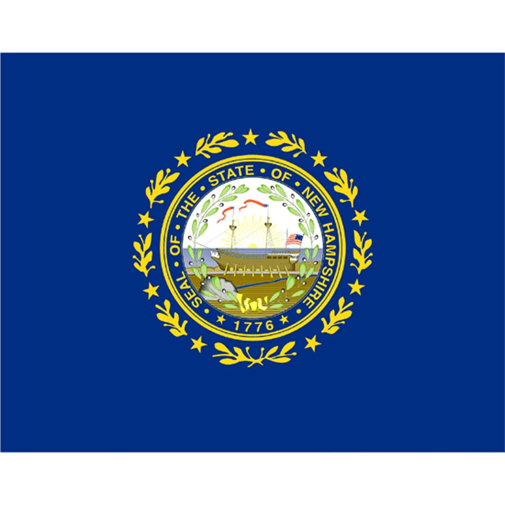 Image of Halloween New Hampshire State Flag - 4' x 6'