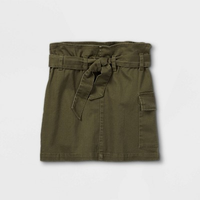 Girls' Belted Utility Skirt - art class™ Olive