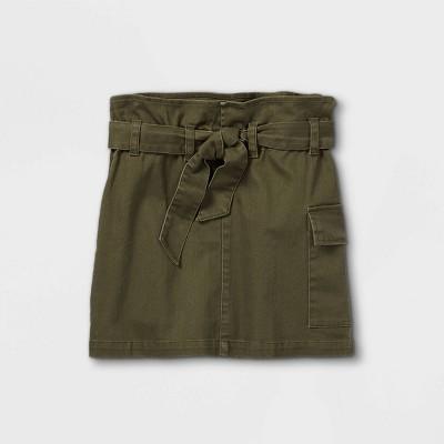 Girls' Belted Utility Skirt - art class™ Olive