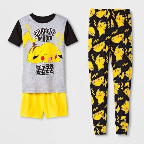 f5adb0c8f4c8 Boys  Pokemon 3pc Pajama Set - Gray 10   Target