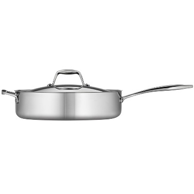 Tramontina Gourmet Tri-Ply Clad 3qt Deep Saute Pan with Lid Silver