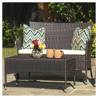 Malta 2pc Outdoor Seating Set - Christopher Knight Home