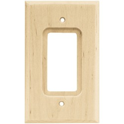 Franklin Brass Square Single Decorator Wall Plate Unfinished Wood Brown