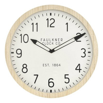"16"" Wall Clock Wood - Threshold™"