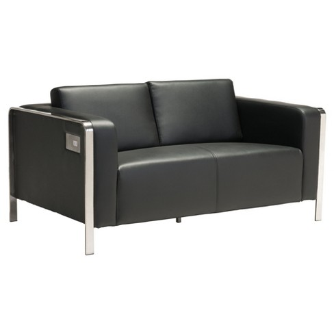 Super Sleek Modern 2 X 3 Port Usb Enhanced 56 Loveseat Black Zm Home Gmtry Best Dining Table And Chair Ideas Images Gmtryco