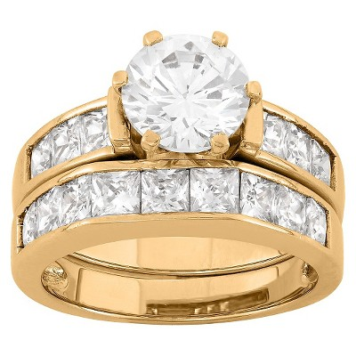 2 CT. T.W. Cubic Zirconia Engagement Ring Set In Sterling Silver