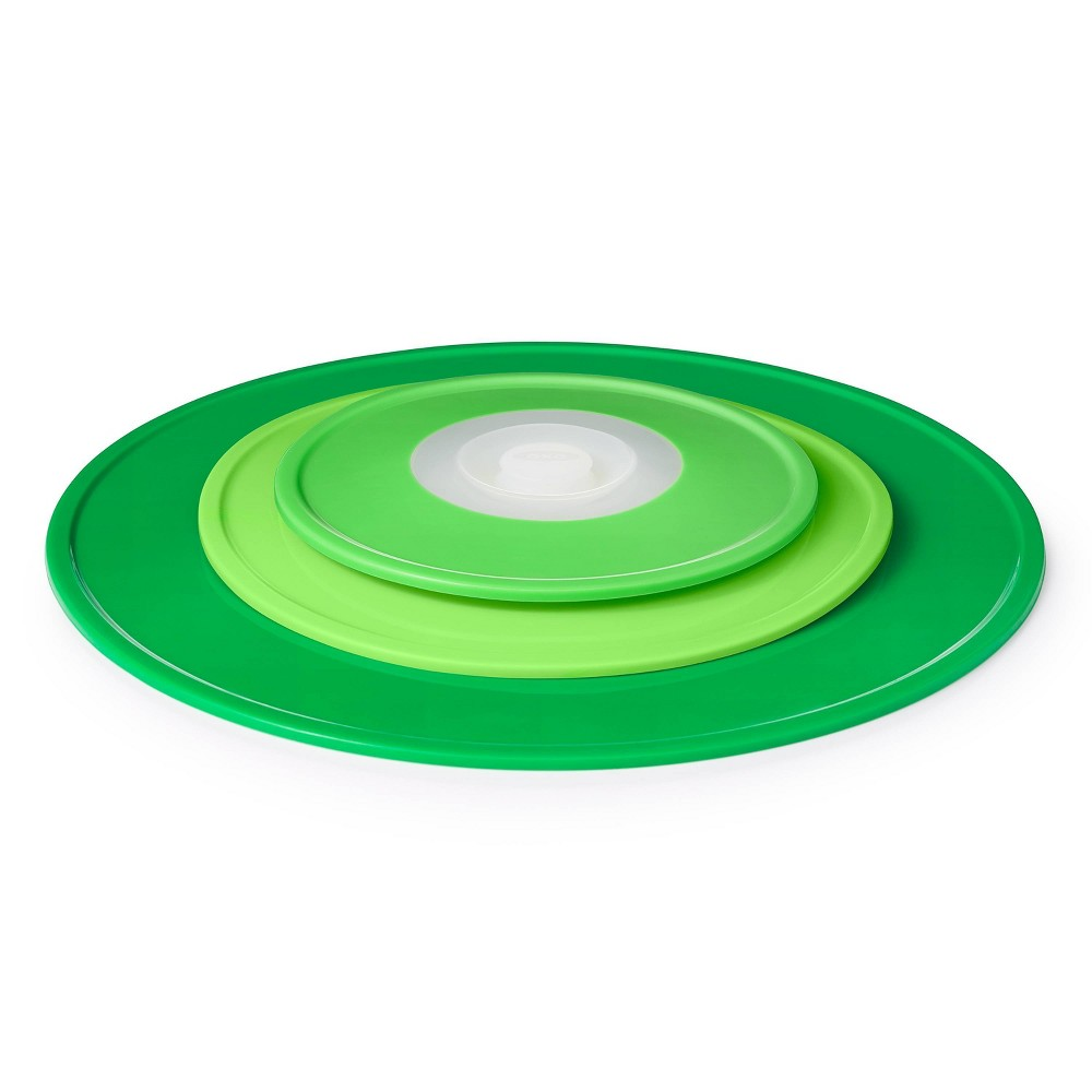 Image of OXO 3pc Silicone Reusable Lid Set