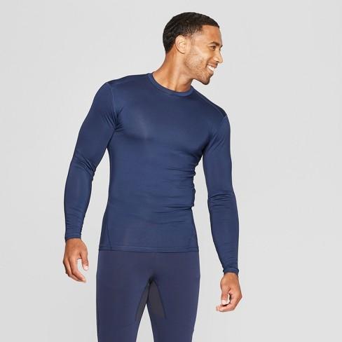 3913d6fd5628 Men's Long Sleeve Compression Shirt - C9 Champion® Dark Night Blue S :  Target